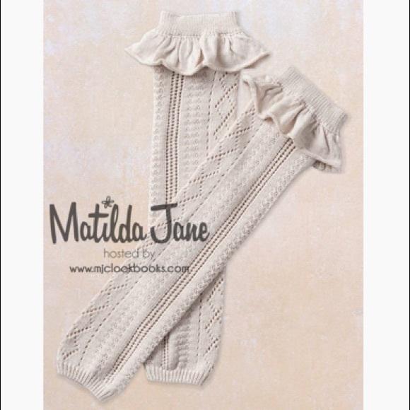 Set of 2 Matilda Jane Kathleen leg warmers NWT